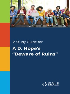 """cover image of A Study Guide for A D. Hope's """"Beware of Ruins"""""""