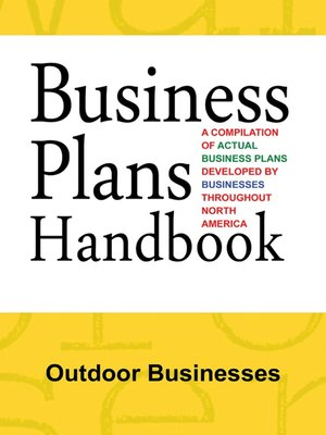 cover image of Business Plans Handbook: Outdoor Businesses