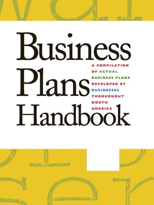 cover image of Business Plans Handbook