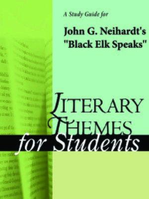 """cover image of A Study Guide for John G. Neihardt's """"Black Elk Speaks"""""""