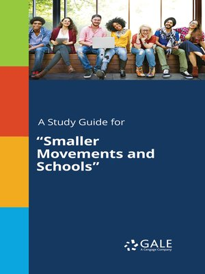 "cover image of A Study Guide for ""Smaller Movements and Schools"""