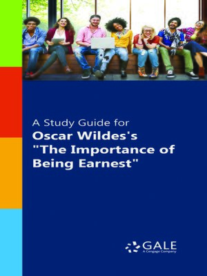 """cover image of A Study Guide for Oscar Wilde's """"The Importance of Being Earnest"""""""