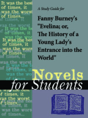 """cover image of A Study Guide for Fanny Burney's """"Evelina"""""""