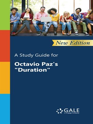 """cover image of A Study Guide for Octavio Paz's """"Duration"""""""