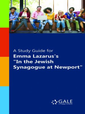 """cover image of A Study Guide for Emma Lazarus's """"In the Jewish Synagogue at Newport"""""""