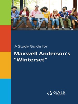 """cover image of A Study Guide for Maxwell Anderson's """"Winterset"""""""