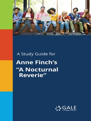 "cover image of A Study Guide for Anne Finch's ""A Nocturnal Reverie"""