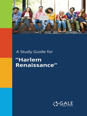 "cover image of A Study Guide for ""Harlem Renaissance"""