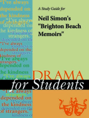 "cover image of A Study Guide for Neil Simon's ""Brighton Beach Memoirs"""
