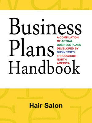 cover image of Business Plans Handbook: Hair Salon