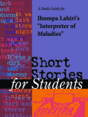 "cover image of A Study Guide for Jhumpa Lahiri's ""Interpreter of Maladies"""
