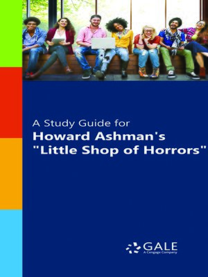 "cover image of A Study Guide for Howard Ashman's ""Little Shop of Horrors"""