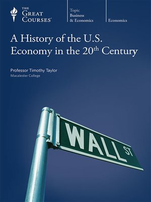 cover image of A History of the U.S. Economy in the 20th Century