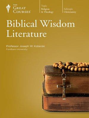cover image of Biblical Wisdom Literature