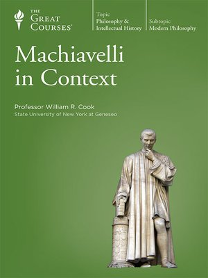 cover image of Machiavelli in Context