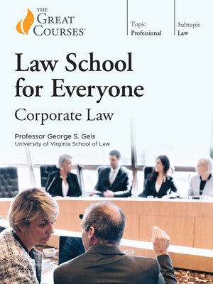 cover image of Law School for Everyone: Corporate Law
