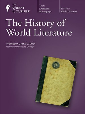 cover image of The History of World Literature