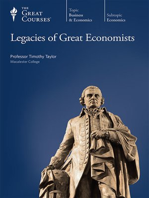 cover image of Legacies of Great Economists