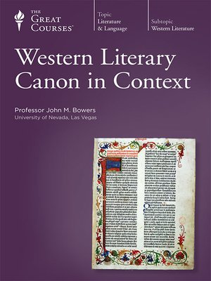 cover image of Western Literary Canon in Context