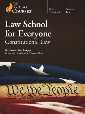 cover image of Law School for Everyone: Constitutional Law