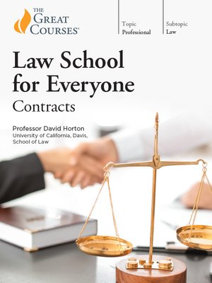 cover image of Law School for Everyone: Contracts