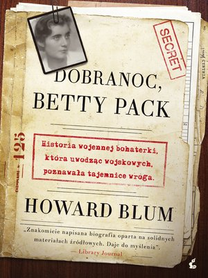 cover image of Dobranoc, Betty Pack