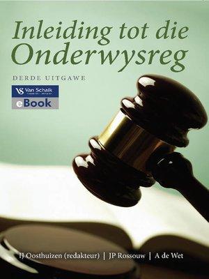 cover image of Inleiding Tot Die Onderwysreg