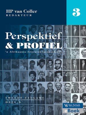 cover image of Perspektief en profiel 2 Deel 3
