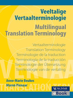 cover image of Veeltalige Vertaalterminologie / Multilingual Translation Terminology