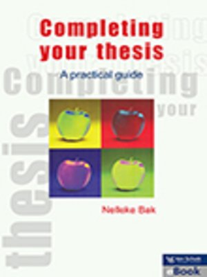 cover image of Completing Your Thesis