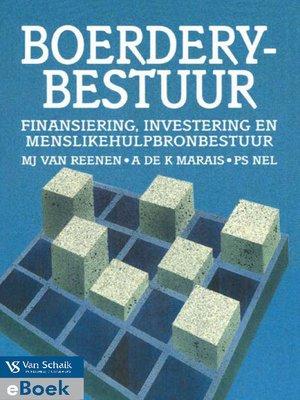 cover image of Boerderybestuur: Finansiering, Investering En Menslikehulpbronbestuur