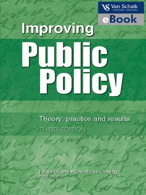 cover image of Improving Public Policy
