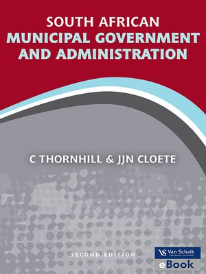 cover image of South African Municipal Government and Administration
