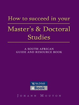 cover image of How to Succeed In Your Master's and Doctoral Studies