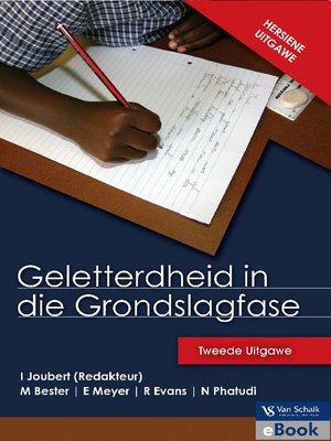 cover image of Geletterdheid In Die Grondslagfase