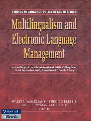cover image of Multilingualism and Electronic Language Management