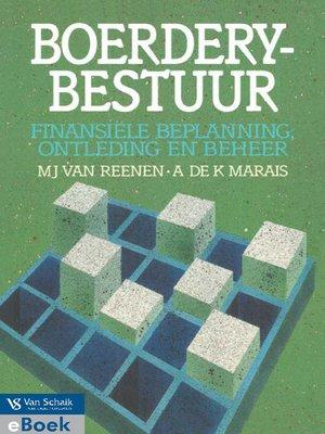 cover image of Boerderybestuur: Finansiële Beplanning, Ontleding En Beheer