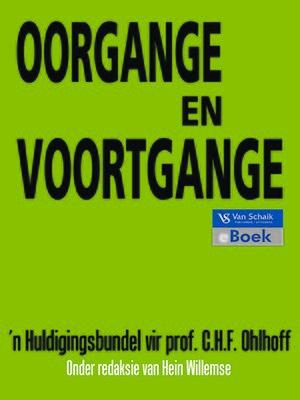 cover image of Oorgange En Voortgange