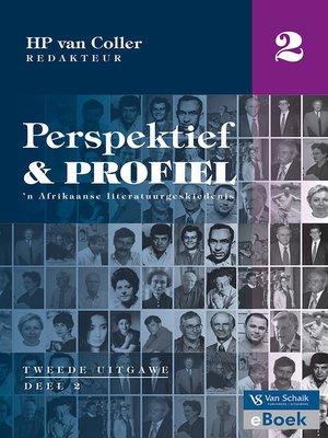 cover image of Perspektief en profiel 2 Deel 2