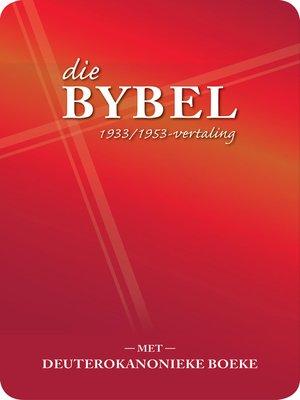 cover image of Die Bybel met deuterokanonieke boeke