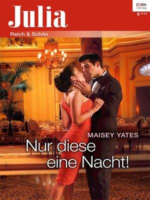 cover image of Nur diese eine Nacht!