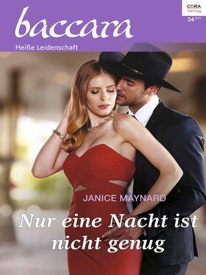 cover image of Nur eine Nacht ist nicht genug