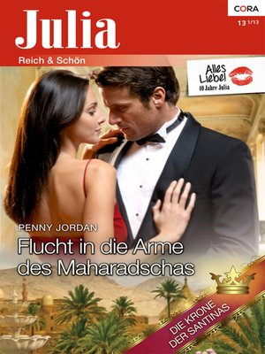 cover image of Flucht in die Arme des Maharadschas