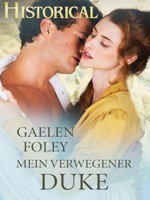 cover image of Mein verwegener Duke