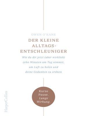cover image of Zehn vor Zen--Die 10-Minuten-Strategie. Für mehr Ruhe und Gelassenheit im Alltag.