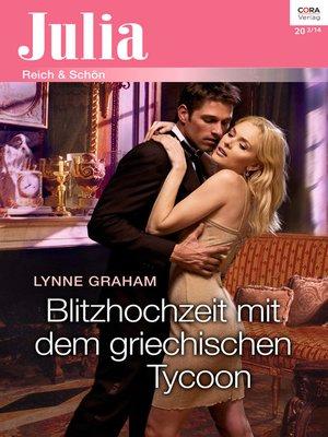 cover image of Blitzhochzeit mit dem griechischen Tycoon
