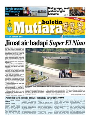 cover image of Buletin Mutiara 16-31 Jan 2016