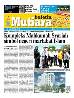 cover image of Buletin Mutiara 16-31 Jan 2013