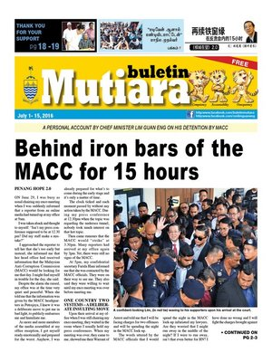cover image of Buletin Mutiara 1-15 Jul 2016
