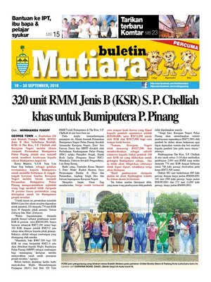 cover image of Buletin Mutiara 16-30 Sept 2016